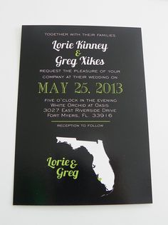 Wedding Map Save the Date Package