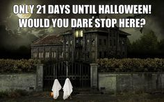 Would you dare stop in here? Days Until Halloween, Halloween Trick Or Treat, Halloween Boo, Celtic Culture, Samhain, Dares, Eve, Spirituality, History