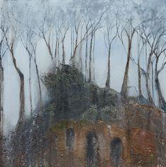 Mark Spray The whisper Oil and mixed media 70x70cm