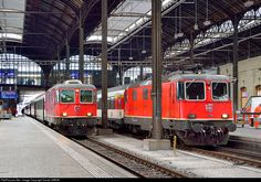 High quality photograph of SBB Re II # at Basel, Switzerland. Swiss Railways, Electric Locomotive, Switzerland, Europe, Adventure, Motorcycles, Railings, Trains, Electric Train