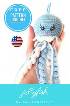 Handmade Gifts For Her, Handmade Ideas, Handmade Toys, Etsy Handmade, Handmade Crafts, Crochet Animal Patterns, Crochet Patterns Amigurumi, Crocheted Jellyfish, Premature Baby