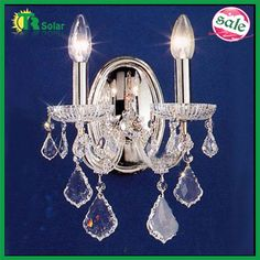 Fashion crystal wall lamp  Material:iron material and Chinese number one crystal and glass