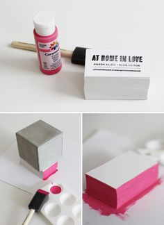 DIY Stamped Business Cards : will be doing something similar, thanks Aileen Allen!