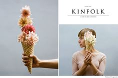 Fun Flower Ice Cream Cone. I want to have a wedding again so I can make the girls and I hold these! So cute!