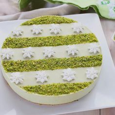Cheesecake al pistacchio Pistachio Cheesecake, Pecan Pie Cheesecake, Pistachio Cake, Strawberry Cheesecake, Cheesecake Recipes, Pistachio Cream, Woolworth Cheesecake Recipe, Cake Illustration, Italian Recipes