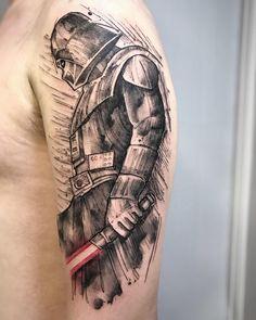 What's your favorite tattoo Jedi Tattoo, Star Wars Tattoo, Stormtrooper Tattoo, Darth Vader Tattoo, Nerd Tattoos, Cool Tattoos, Kobe Bryant Tattoos, Samurai Wallpaper, Giraffe Tattoos