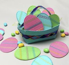 Decorative Stitched Easter Eggs tutorial