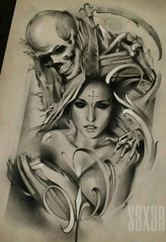 Tattoos are an integral part of society, with many people sporting one or more tattoos on their body, it is certain that these tattoos can be significant for many people and cultures from around th… Skull Tattoo Design, Skull Tattoos, Body Art Tattoos, Sleeve Tattoos, Tattoo Designs, Tattoo Ideas, Tattoo Gallery, Arte Alien, Totenkopf Tattoos
