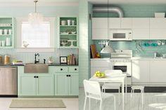 Vert menthe dans la cuisine