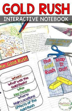 Gold rush activities and projects are so fun for grade grade grade students and for kids in middle school! These Social Studies Westward Expansion printables for the California Gold Rush are perfect for interactive notebooks for the elementary classroom. Social Studies Projects, Social Studies Notebook, 4th Grade Social Studies, Social Studies Classroom, Social Studies Activities, Hands On Activities, Teaching History, History Education, Teaching Resources
