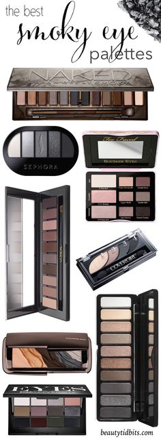 The best smoky eyeshadow palettes, from drugstore to high-end, that will help you create the perfect smoky eye with ease!