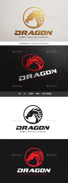 Dragon Logo Template #design #logotype Download: http://graphicriver.net/item/dragon/11994760?ref=ksioks