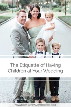Get expert-backed answers to all of your pressing questions about inviting (or not inviting) kids to your celebration. Wedding With Kids, Our Wedding, Wall Decorations, Wedding Decorations, Wedding Guest Etiquette, Invites, Wedding Invitations, Child Friendly, Martha Stewart Weddings