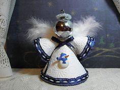 Globe Ornament, Angel Ornaments, Christmas Crafts, Christmas Bulbs, Paper Angel, Handmade Angels, Angel Crafts, Thanksgiving Birthday, Snow Globes