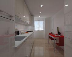 Diseño de Cocina Santos en Madrid, Modelo Plano con una encimera Silestone