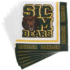 Baylor Bears 20-Pack Beverage Napkins