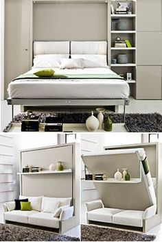 Freestanding Nuovoliola Queen Wall Beds. Like the bench seat.