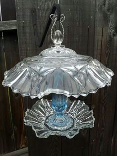 Glass bird feeder Www.etsy.com/singlemommymadness Www.facebook.com/singlemommymadness