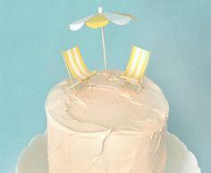 Beachy wedding cake topper