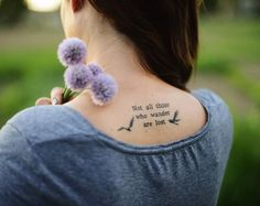 41+ Upper Back Quote Tattoos