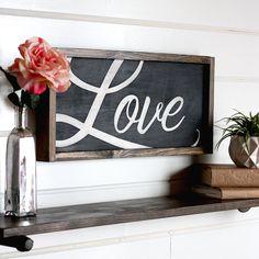 Love Sign, Modern Farmhouse Wall Decor, Wooden Signs, Rustic Home Decor, Farmhou… – Valentine's Day Farmhouse Wall Decor, Rustic Wall Decor, Farmhouse Signs, Rustic Signs, Wooden Signs, Modern Farmhouse, Farmhouse Style, Farmhouse Ideas, Rustic Chair