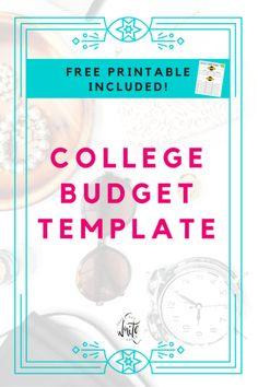 student budget templates