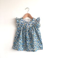 RESERVED for lpmiller80  size 12-18 months only - girls floral cotton lawn  dress a1c4569080f