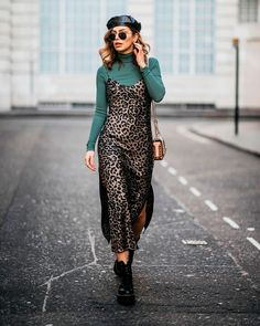 Best Ways to Wear Slip Dresses in Spring 2019 - Beautiful leopard print slip dress midi for spring 2019 Source by stylishbelles - Leopard Print Dress Outfit, Slip Dress Outfit, Winter Dress Outfits, Casual Dress Outfits, Edgy Outfits, The Dress, Fashion Outfits, Slip Dresses, Leopard Print Boots