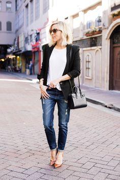 simple as a blazer + tee