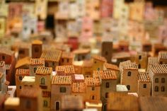 [RHYTHM-REPETITION] Orvieto Miniature Houses. This example shows how a small section of pattern (the texture on the rooftops) can be repeated as a pattern that creates a rhythm to our eye.