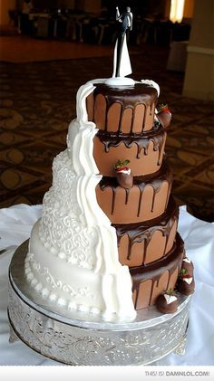 marriage is compromise - so start with the wedding cake #wedding #wedding #cake