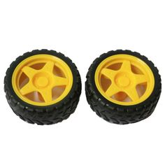 DIY 65mm Car Model TT Motor Wheel - Yellow + Black (2PCS) . Color Black + Yellow Material ABS Quantity 2 Piece Compatible Model Robot, gun toy, four wheel drive toy, aircraft toy, vibration products Other Features Wheel diameter: 65mm, width: 28mm Packing List 2 x Wheels. Tags: #Hobbies #Toys #R/C #Toys #Other #Accessories