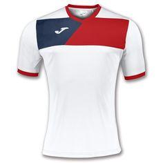 Camiseta picasho Tenis Blanco-Rojo m//c para Hombre Joma