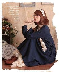 Kleid vintage retro lolita lagenlook Mori Girl odd romantisch molly Shabby Chic