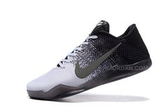415ac92d0690 Kobe 11 Low Black and White Grey Shoes