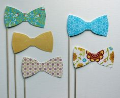 fun bow ties (could use fabric over poster or cardboard to make them stiff enough)