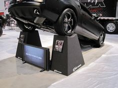 Custom Display Pyramids..  These show pyramids allow full view of the underside of your show vehicles.