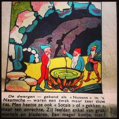 Mysterieus België: Het Dwergenhol van Frêne (bij Namen) - vintage strip