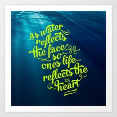 Water Art Print by Pocket Fuel - $18.95