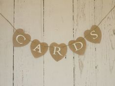 Cards Burlap Banner Wedding Cards  Bunting  Wedding Cards Sign