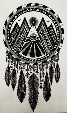 Creative Inspiration, Illustration, and Poster image ideas & inspiration on Designspiration Atrapasueños Tattoo, Tatoo Art, Tattoos, Stag Tattoo, Dreamcatchers, Dreamcatcher Feathers, White Dreamcatcher, Dreamcatcher Design, Hipster Vintage