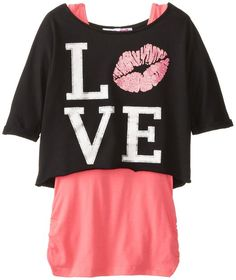Derek Heart Big Girls' Dolman Top with Rouched Tank the #Best_Sellers_Amazon at www.dddproducts.org