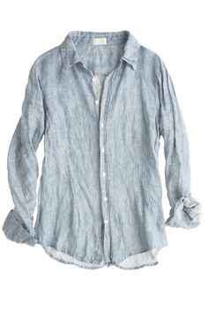 Marissa Linen Striped Shirt. Denim shirts are a MUST have staple. I wear mine constantly.