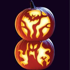 double pumpkin carving ideas - Google Search