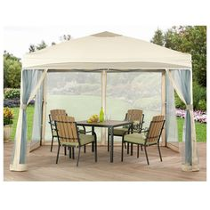Outdoor Backyard Gazebo- a place where you can enjoy your backyard without the mosquitoes and other pesky bugs bothering you!   #BobbieJosOneStopShop #Gazebo #Pergola #Tent #Canopy #ScreenHouse #Camping #Shade