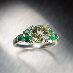 1.10ct Natural Turkish Diaspore colour change & emeralds by EVGAD