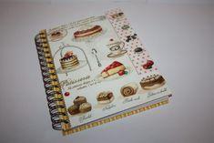 Cadou pasionati bucatarie, Cadou personalizat, Caiet retete Decoupage, Notebook, The Notebook, Exercise Book, Notebooks