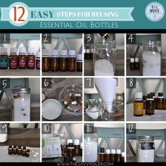 Reusing Essential Oil Bottles and getting every last drop!