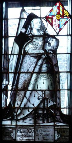 Marie de Bourgogne, vitrail de Willem Thibaut, au Lakenhal de Leyde (1587)