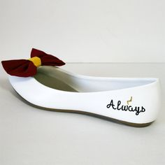 Harry Potter flats with bow ties by PinkoMinko on Etsy
